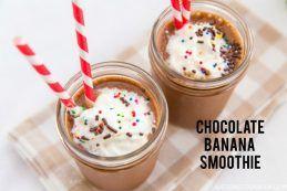 Chocolate Banana Smoothie #recipe #healthy #smoothie   Easy Japanese Recipes at JustOneCookbook.com