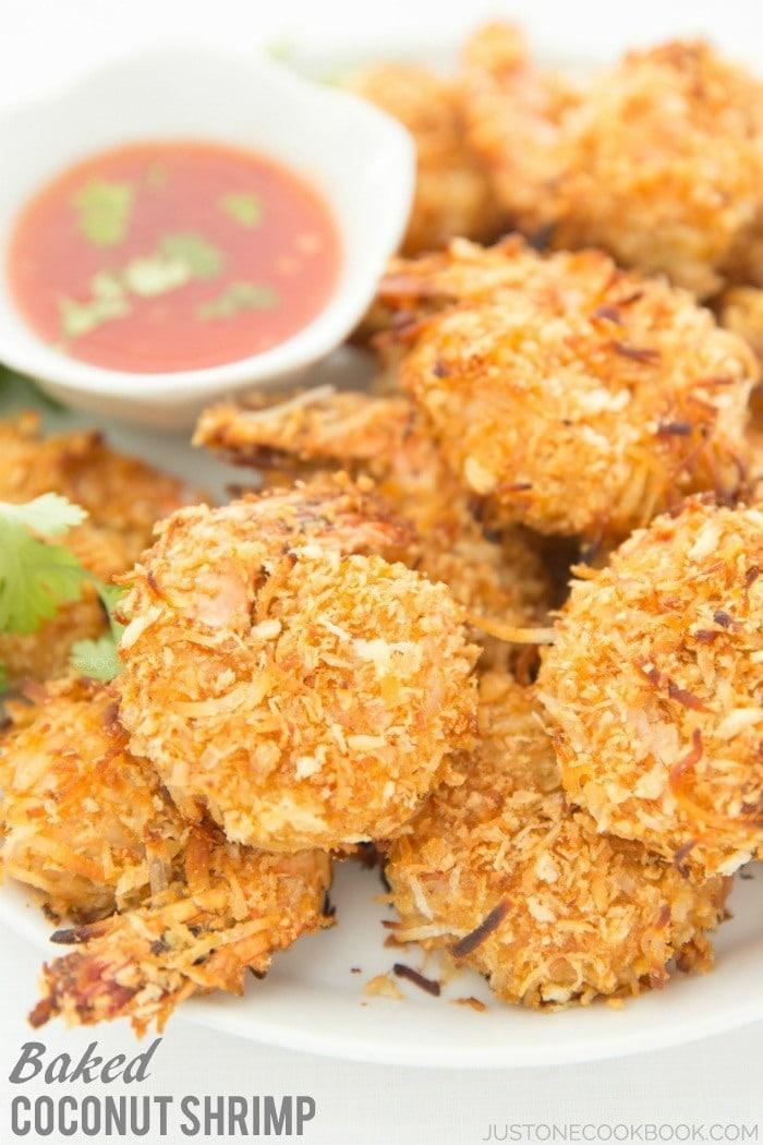 Baked Coconut Shrimp with Thai Chili Sauce #recipe #coconutshrimp   Easy Japanese Recipes at JustOneCookbook.com