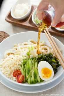 Cold Tanuki Udon | Just One Cookbook