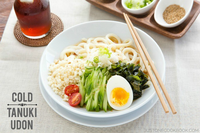 Cold Tanuki Udon Noodles | Easy Japanese Recipes at JustOneCookbook.com