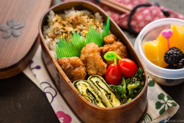 Shio Koji Karaage in the bento box.