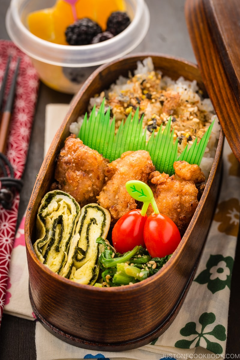 Shio Koji Karaage in the bento box.