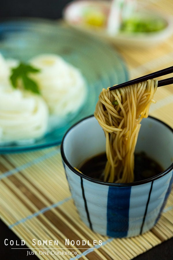 Cold Somen Noodles | Easy Japanese Recipes at JustOneCookbook.com
