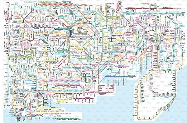 Yokohama Tokyo Transit Map
