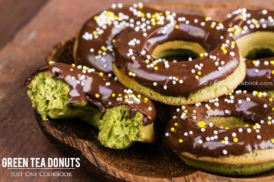 Green Tea Donuts   Easy Japanese Recipes at JustOneCookbook.com