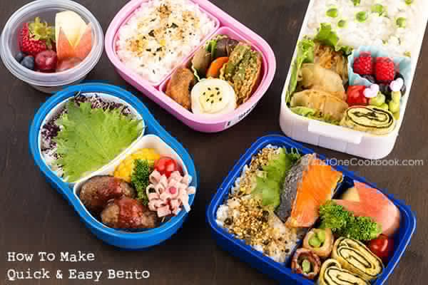 Bento boxes on a table.