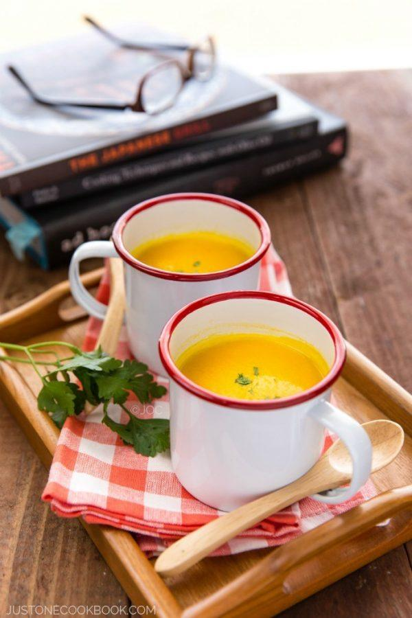 Kabocha Squash Soup in two cups.
