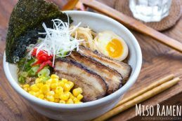 Miso Ramen - A homemade miso #ramen broth that's quick and easy, yet much better than packaged ramen soup!