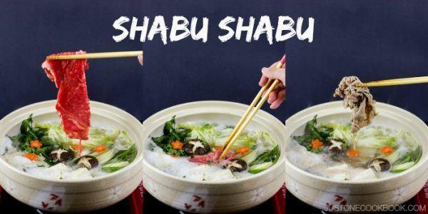 Shabu Shabu in pots.
