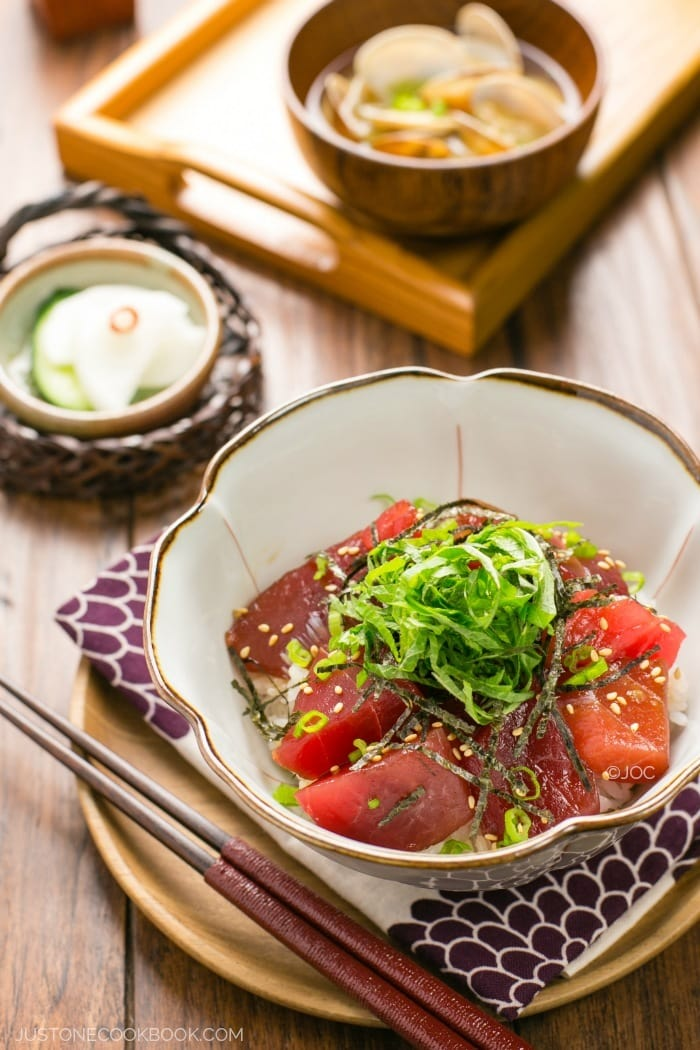 Tekka Don (Tuna Bowl) | Easy Japanese Recipes at JustOneCookbook.com