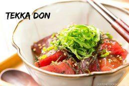 Tekka Don (Tuna Bowl) | Easy Japanese Recipes at JustOneCookbook.com