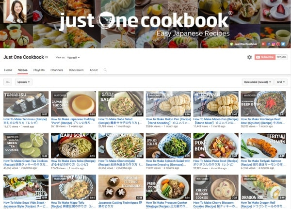 Just one cookbook youtube videos just one cookbook forumfinder Choice Image