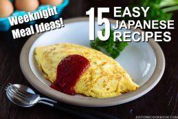 Weeknight Meal Ideas 15 Easy Japanese Recipes | JustOneCookbook.com
