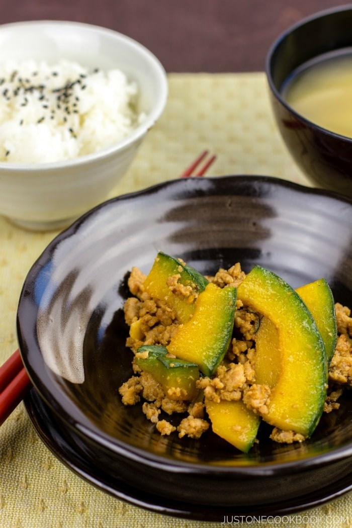 Kabocha Pork Stir Fry | Easy Japanese Recipes at JustOneCookbook.com