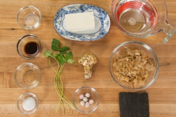 Matsutake Clear Soup Ingredients