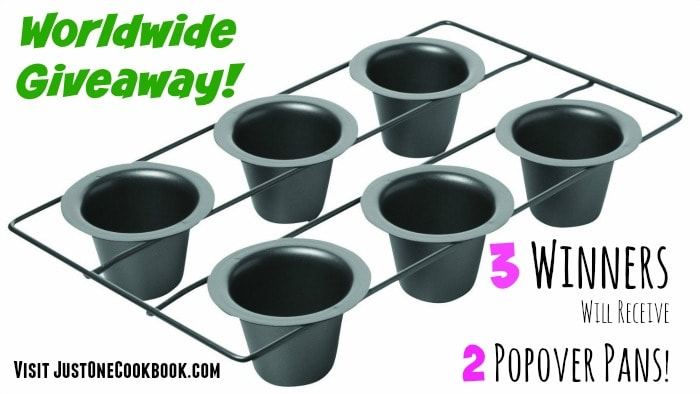 Popover Pan Worldwide Giveaway Closed Just One Cookbook