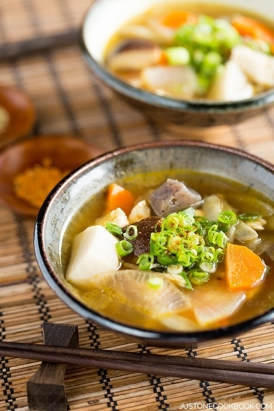 Japanese Vegetable Soup (Kenchinjiru) | Easy Japanese Recipes at JustOneCookbook.com