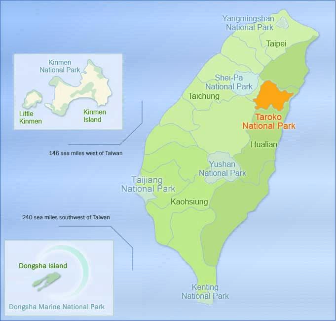 Taroko National Park Map