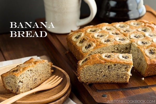 Banana Bread on a cutting board.