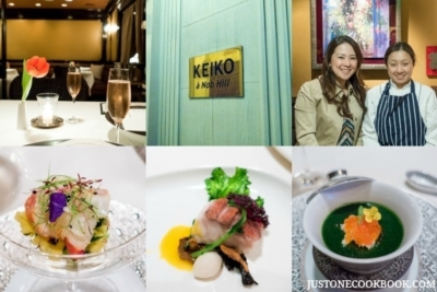 thumbnails of dishes and pictures from keiko a nob hill