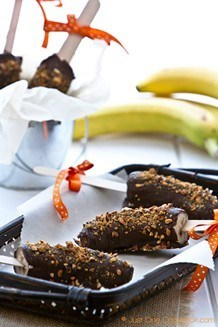 Frozen Chocolate Banana| JustOneCookbook.com