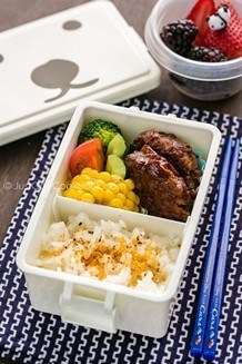 Hamburger Steak Bento| JustOneCookbook.com