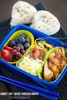 Honey Soy Sauce Chicken Bento | JustOneCookbook.com