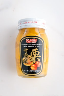 Kuri Kanroni (Chestnuts in Heavy Syrup)   Easy Japanese Recipes at JustOneCookbook.com