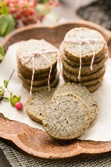 Sesame Cookies on a plate.