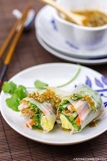 Spring Rolls with Ponzu Sauce | JustOneCookbook.com