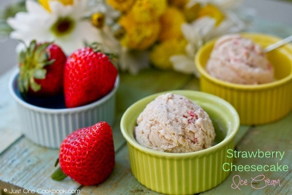 Strawberry Cheesecake Ice Cream | JustOneCookbook.com
