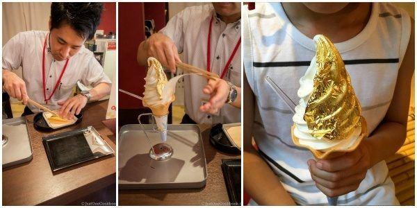 Ice Cream with Gold Leaf   JustOneCookbook.com