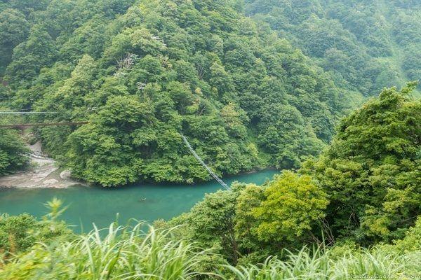Kurobe Gorge Suspension Bridge for Monkeys