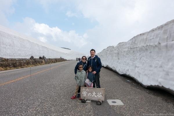 Teteyama Kurobe Alpine Route - Snow Corridor | JustOneCookbook.com