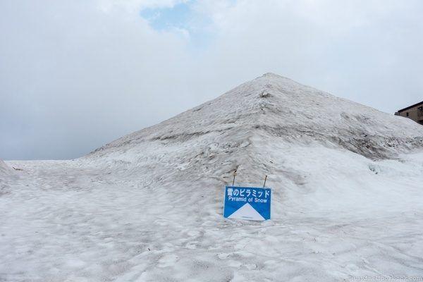 Tateyama Murodo Snow Pyramid