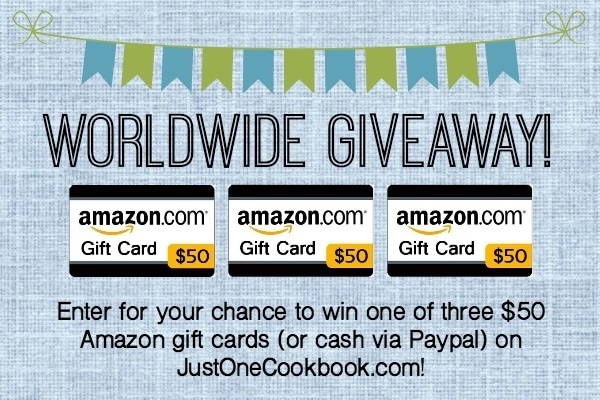 3 Amazon Gift Cards Giveaway