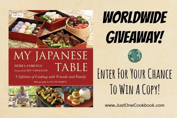 My Japanese Table Giveaway | JustOneCookbook.com