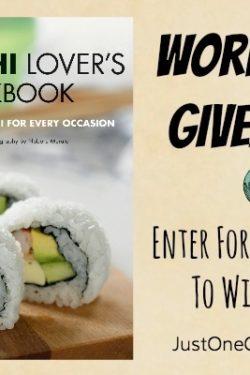 The Sushi Lover's Cookbook Giveaway   JustOneCookbook.com