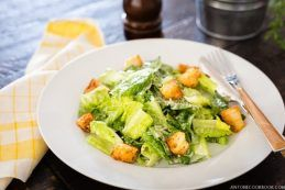 Caesar Salad with Homemade Croutons | JustOneCookbook.com