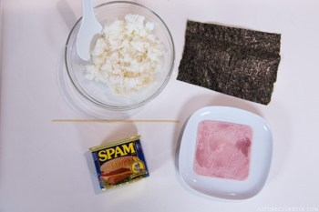 Spam Musubi Ingredients