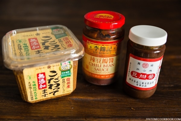 Miso and Tobanjiang in packages.