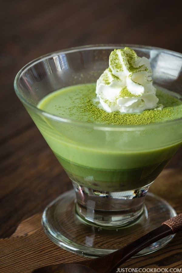 Green Tea Pudding | Easy Japanese Recipes at JustOneCookbook.com