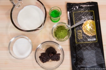 Green Tea Pudding Ingredients