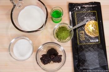 Green Tea Pudding Ingredients