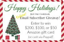 Holiday 2015 Email Subscriber Giveaway (Worldwide) (Closed)