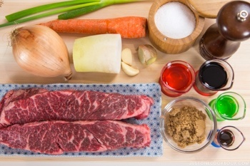 Pressure Cooker Short Ribs Ingredients