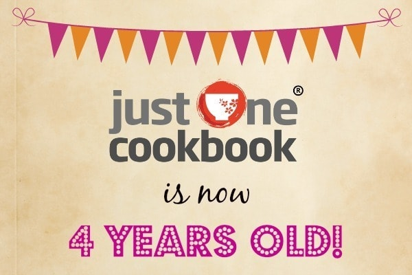 Just One Cookbook 4 Years Old
