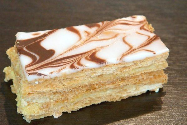 Mille-feuille on a table.