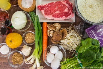 Bulgogi Onigirazu Ingredients