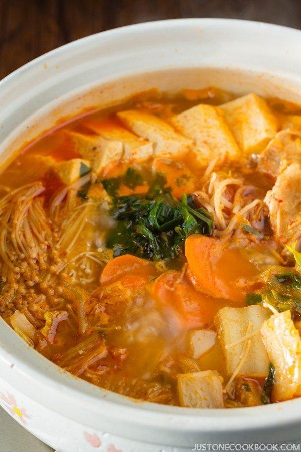 Kimchi Nabe in a big pot.